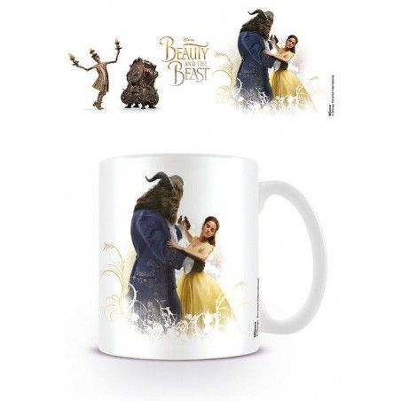 DISNEY BEAUTY AND THE BEAST CERAMIC MUG TAZZA IN CERAMICA