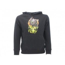 FELPA HOODIE DRAGON TRAINER NIGHT FURY FURIA BUIA NERA