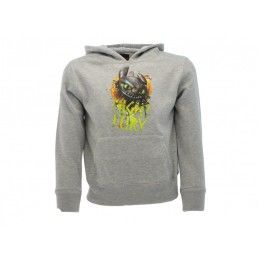 FELPA HOODIE DRAGON TRAINER NIGHT FURY FURIA BUIA GRIGIA