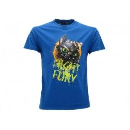 MAGLIA T SHIRT DRAGON TRAINER NIGHT FURY FURIA BUIA BLU