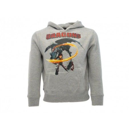 FELPA HOODIE DRAGON TRAINER HICCUP GRIGIA