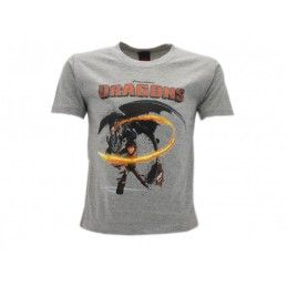 MAGLIA T SHIRT DRAGON TRAINER HICCUP GRIGIA