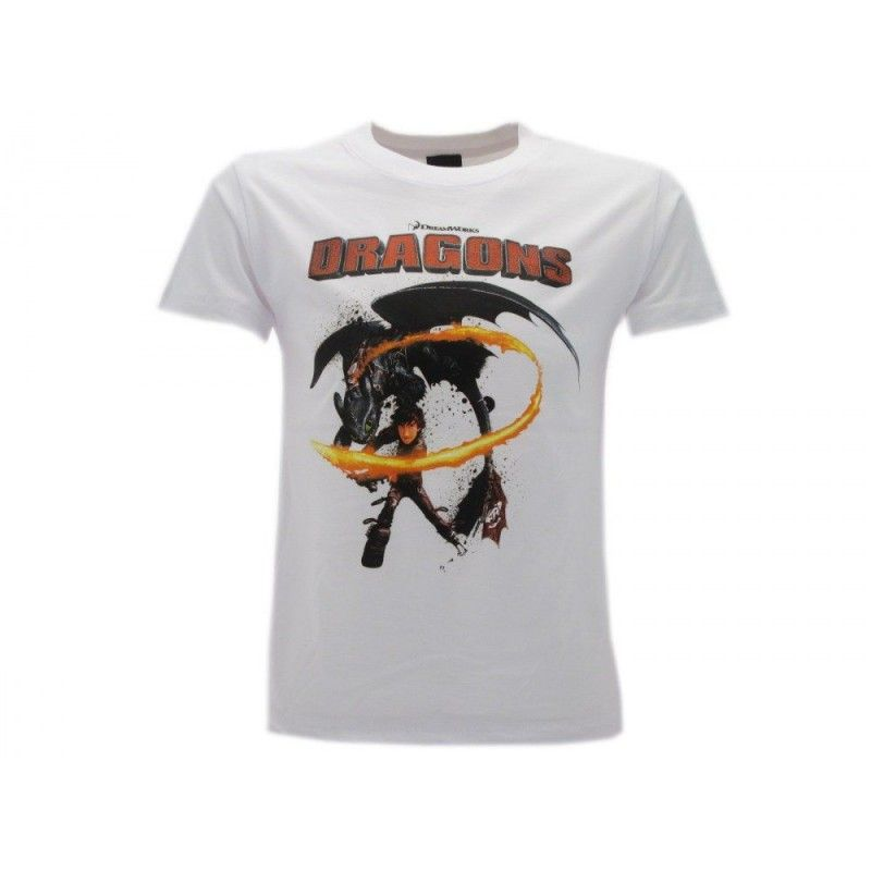 MAGLIA T SHIRT DRAGON TRAINER HICCUP BIANCA
