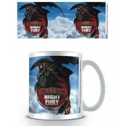 PYRAMID INTERNATIONAL DRAGONS DRAGON TRAINER NIGHT FURY CERAMIC MUG TAZZA IN CERAMICA