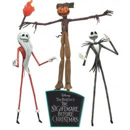 DIAMOND SELECT NIGHTMARE BEFORE CHRISTMAS JOBS OF JACK SKELLINGTON SET ACTION FIGURE