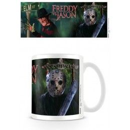 PYRAMID INTERNATIONAL FREDDY VS JASON CERAMIC MUG TAZZA IN CERAMICA
