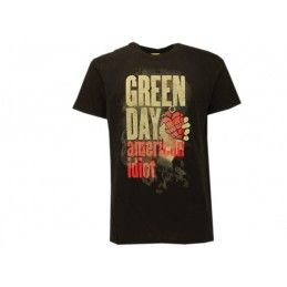 MAGLIA T SHIRT GREEN DAY AMERICAN IDIOT