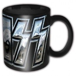 PYRAMID INTERNATIONAL KISS METAL LOGO CERAMIC MUG TAZZA IN CERAMICA