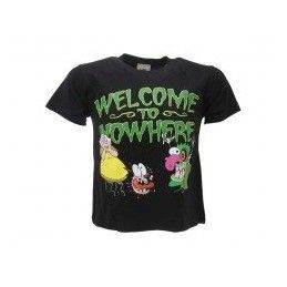 MAGLIA T SHIRT LEONE CANE FIFONE COURAGE DOG WELCOME NERA