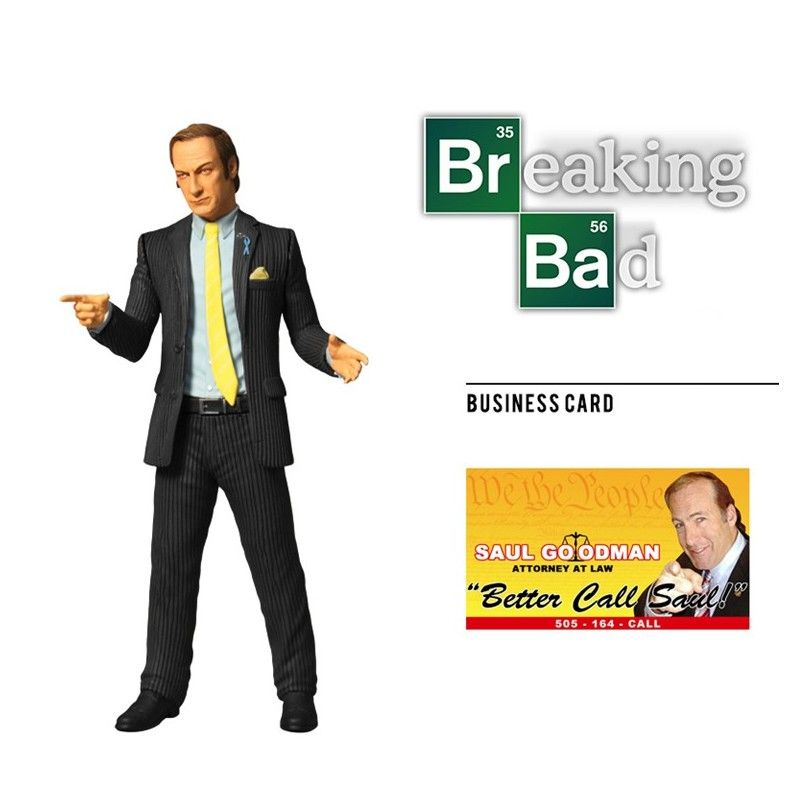 MEZCO TOYS BREAKING BAD SAUL GOODMAN ACTION FIGURE