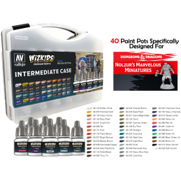 WIZKIDS PREMIUM PAINTS - INTERMEDIATE CASE SET COLORI PER MINIATURE WIZKIDS