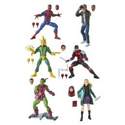 HASBRO MARVEL LEGENDS RETRO - SPIDER-MAN SET COMPLETO 6X ACTION FIGURE