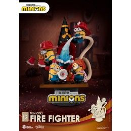 BEAST KINGDOM D-STAGE MINIONS FIRE FIGHTER 049 STATUE FIGURE DIORAMA