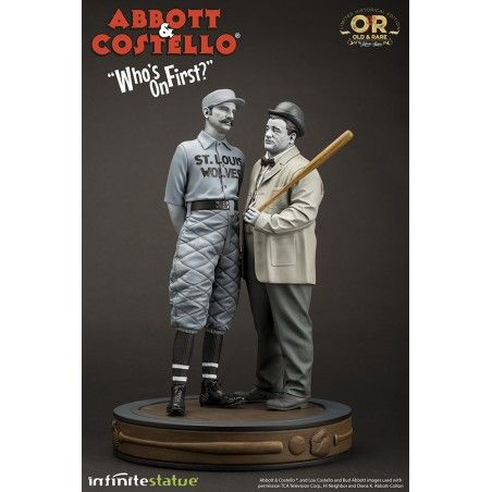 ABBOT AND COSTELLO STATUE 32 CM 1/6 OLD AND RARE RESIN FIGURE