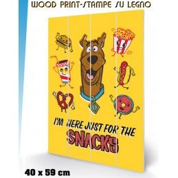 PYRAMID INTERNATIONAL SCOOBY DOO SNACKS WOOD PRINT STAMPA SU LEGNO 40 X 60 CM