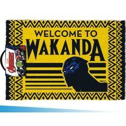 MARVEL BLACK PANTHER WELCOME TO WAKANDA ZERBINO TAPPETINO DOORMAT 40X60cm PYRAMID INTERNATIONAL
