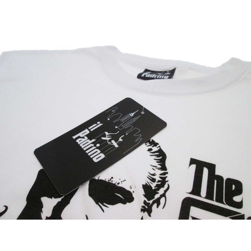 MAGLIA T SHIRT THE GODFATHER IL PADRINO BIANCA