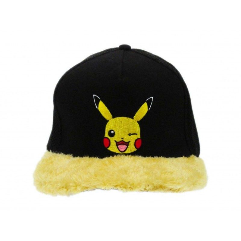 CAPPELLO BASEBALL CAP POKEMON PIKACHU NERO GIALLO