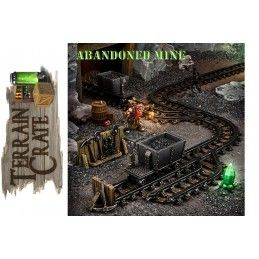 TERRAIN CRATE - ABANDONED MINE SET DIORAMA MINIATURES MANTIC