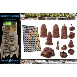 TERRAIN CRATE - BATTLEFIELD OBJECTIVES SET DIORAMA MINIATURES MANTIC
