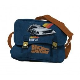 BACK TO THE FUTURE DELOREAN FABRIC MAILBAG - BORSA A TRACOLLA IN TESSUTO RITORNO AL FUTURO SD TOYS