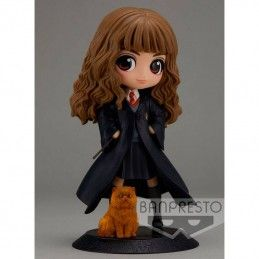 BANPRESTO HARRY POTTER Q POSKET - HERMIONE GRANGER WITH CROOKSHANKS 14 CM MINI ACTION FIGURE