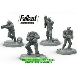 MODIPHIUS ENTERTAINMENT FALLOUT WASTELAND WARFARE - BOS FRONTLINE KNIGHTS MINIATURES SET
