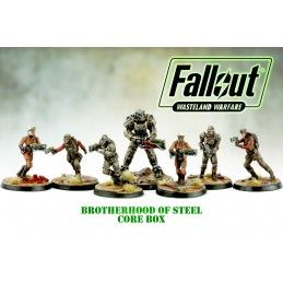 MODIPHIUS ENTERTAINMENT FALLOUT WASTELAND WARFARE - BROTHEROOD OF STEEL CORE BOX MINIATURES SET