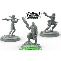 MODIPHIUS ENTERTAINMENT FALLOUT WASTELAND WARFARE - SURVIVORS BOSTON COMPANIONS MINIATURES SET