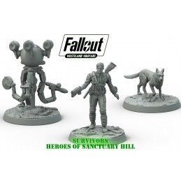 MODIPHIUS ENTERTAINMENT FALLOUT WASTELAND WARFARE - SURVIVORS HEROES OF SANCTUARY HILL MINIATURES SET