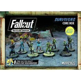 MODIPHIUS ENTERTAINMENT FALLOUT WASTELAND WARFARE - SURVIVORS CORE BOX MINIATURES SET