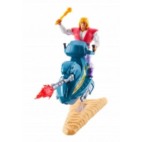 MASTERS OF THE UNIVERSE ORIGINS PRINCE ADAM SKY SLED ACTION FIGURE
