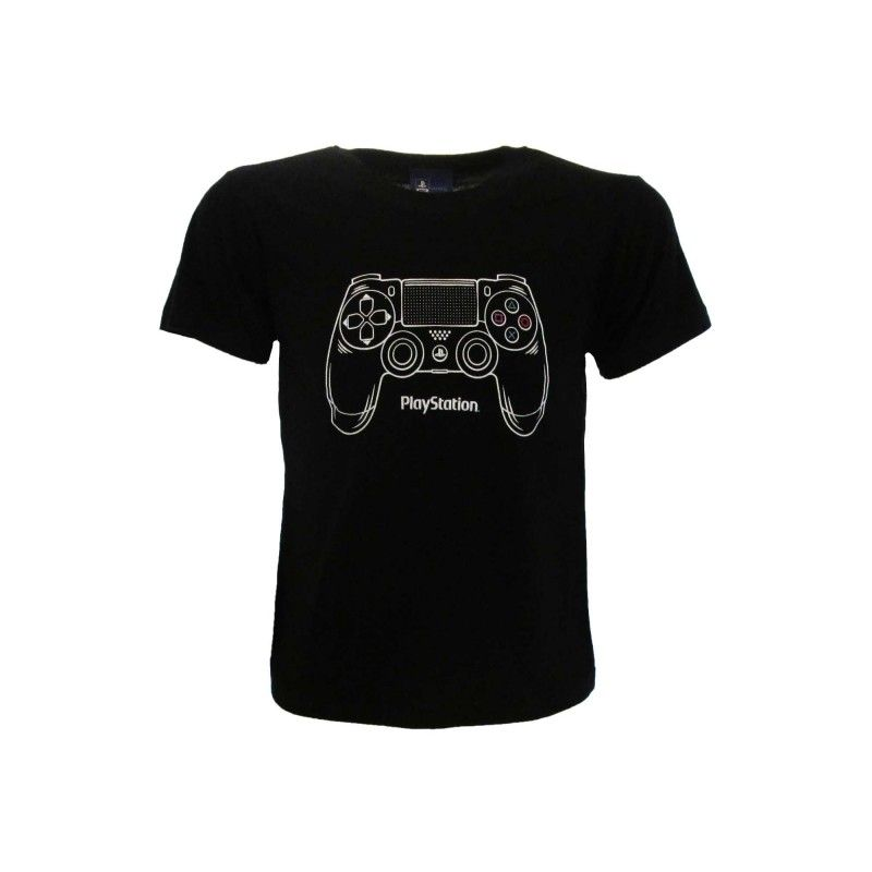 MAGLIA T SHIRT SONY PLAYSTATION CONTROLLER DUALSHOCK NERA