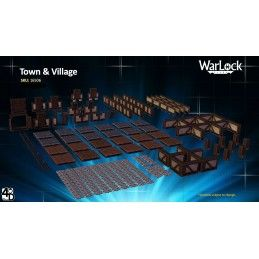 WARLOCK TILES TOWN AND VILLAGE TESSERE DUNGEON WIZKIDS
