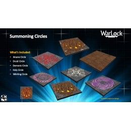 WIZKIDS WARLOCK TILES SUMMONING CIRCLES TESSERE DUNGEON