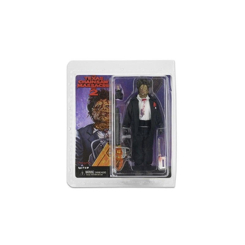 THE TEXAS CHAINSAW MASSACRE 2 - LEATHERFACE RETRO ACTION FIGURE NECA