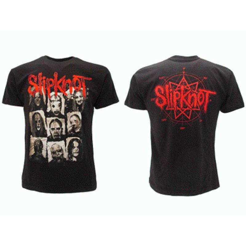 MAGLIA T SHIRT SLIPKNOT FACES