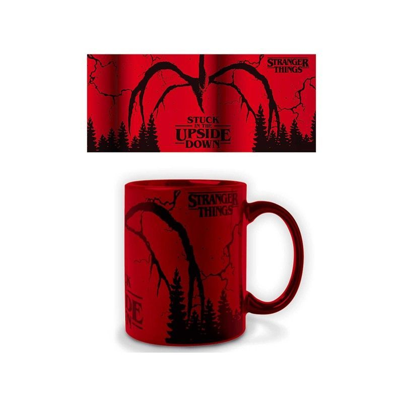 STRANGER THINGS STUCK IN THE UPSIDE DOWN MUG TAZZA PYRAMID INTERNATIONAL