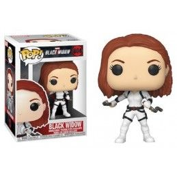 FUNKO FUNKO POP! BLACK WIDOW WHITE SUIT BOBBLE HEAD KNOCKER FIGURE
