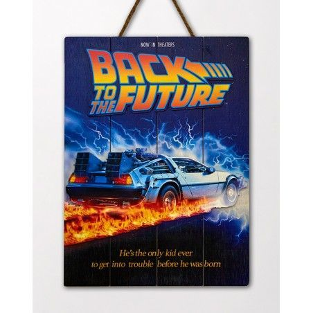 BACK TO THE FUTURE WOOD PRINT STAMPA SU LEGNO
