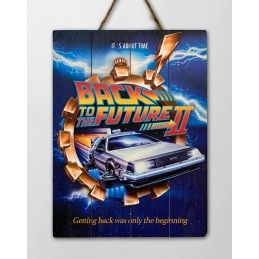 BACK TO THE FUTURE 2 WOOD PRINT STAMPA SU LEGNO DOCTOR COLLECTOR