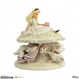 ENESCO DISNEY ALICE IN WONDERLAND WHITE WOODLAND STATUE