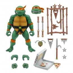 TEENAGE MUTANT NINJA TURTLES ULTIMATES MICHELANGELO ACTION FIGURE SUPER7