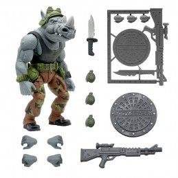 TEENAGE MUTANT NINJA TURTLES ULTIMATES ROCKSTEADY ACTION FIGURE SUPER7