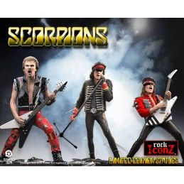 ROCK ICONZ SCORPIONS LIMITED EDITION 3-PACK STATUE FIGURE KNUCKLEBONZ