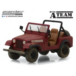 THE A-TEAM - 1983 JEEP CJ-7 DIE CAST 1/64 GREEN LIGHT COLLECTIBLES