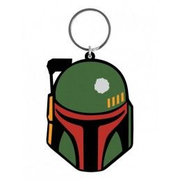 PYRAMID INTERNATIONAL STAR WARS RUBBER KEYCHAIN PORTACHIAVI BOBA FETT IN GOMMA KEYRING