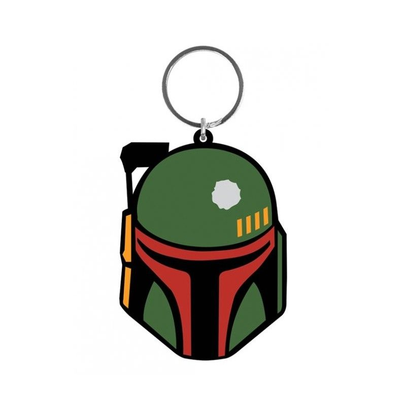 STAR WARS RUBBER KEYCHAIN PORTACHIAVI BOBA FETT IN GOMMA KEYRING PYRAMID INTERNATIONAL
