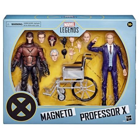 MARVEL LEGENDS X-MEN MAGNETO AND PROFESSOR XAVIER ACTION FIGURE