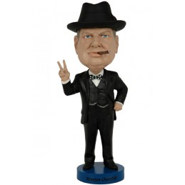 WINSTON CHURCHILL HEADKNOCKER BOBBLE HEAD FIGURE ROYAL BOBBLES